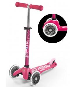 Mini deluxe rožnat z LED kolesi