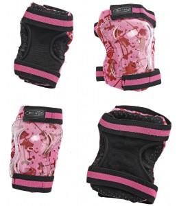 Ščitniki Micro za komolce in kolena rožnati XS