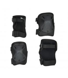 Ščitniki Micro za komolce in kolena črni M