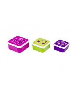 Trunki posodice za malico rožnata / vijolična / zelena